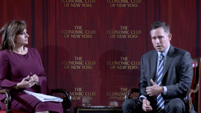 Thiel says bitcoin is like an 'online equivalent of gold'