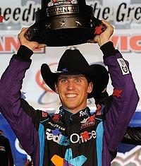 Wild day in Texas ends with Hamlin on top