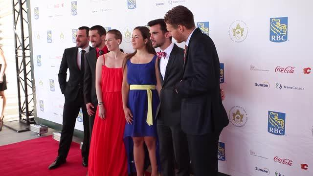 Red Carpet at the Olympic Hall of Fame Gala in Calgary