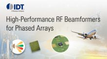 IDT Announces Expansion of RF Beamforming Portfolio for Phased Array Applications