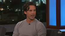 Milo Ventimiglia plays a fun 'This Is Us' activity with the troops