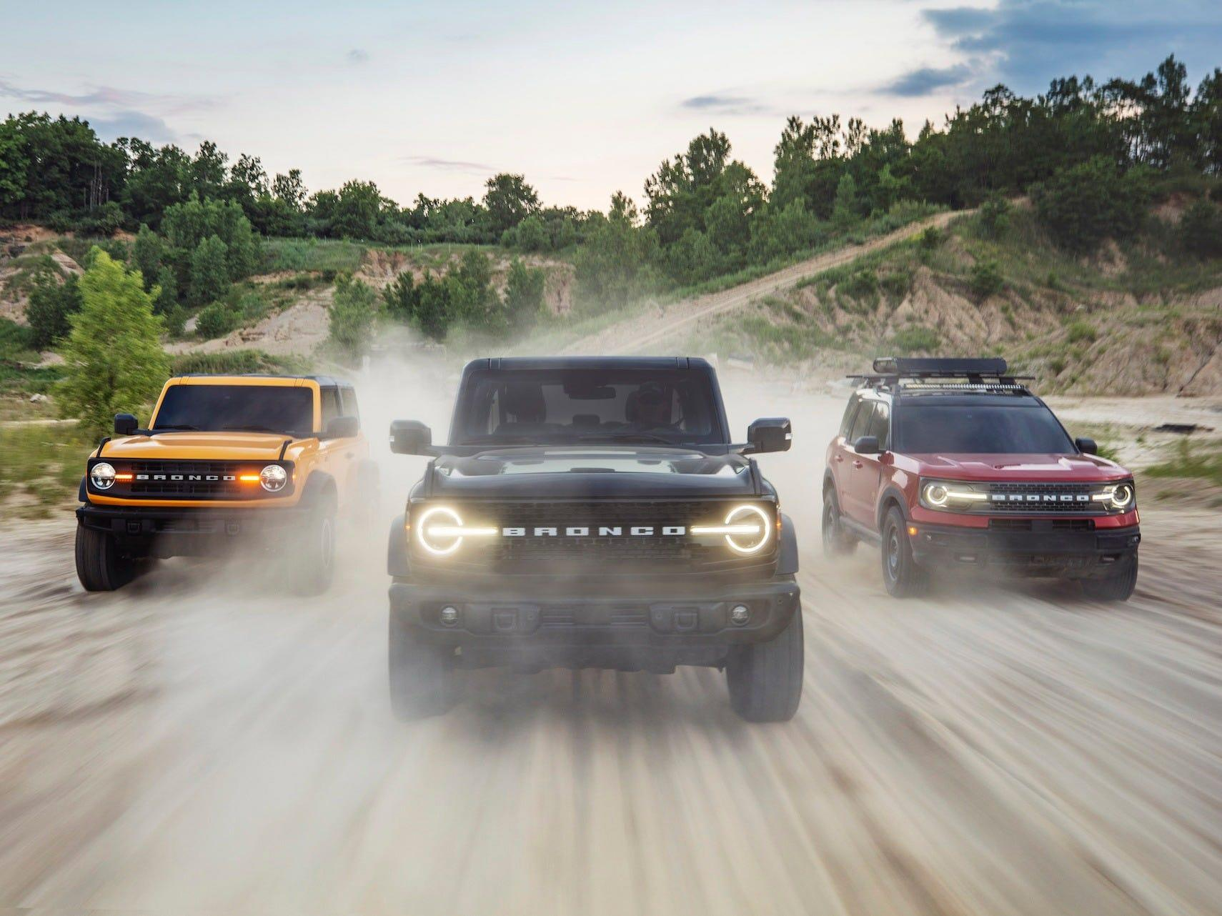 Ford just revealed the all-new Bronco SUV to take on Jeep and Land Rover — have a closer look at the first Bronco since 1996