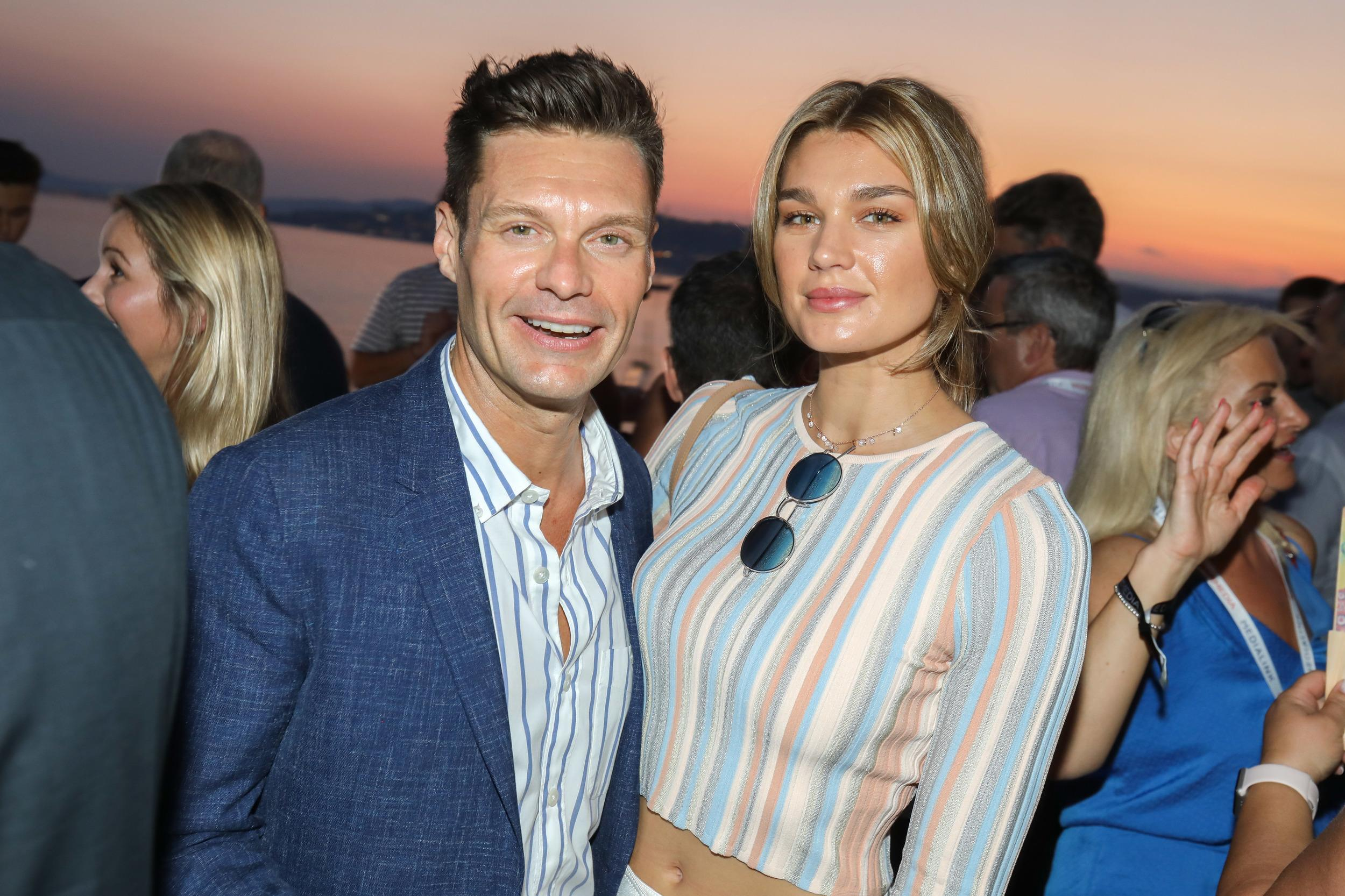 CAP D'ANTIBES, FRANCE - JUNE 19: Ryan Seacrest and Shayna Taylor attend a VIP dinner party hosted by iHeartMedia and MediaLink during the Cannes Lions Festival of Creativity at Hotel du Cap-Eden-Roc on June 19, 2018 in Cap d'Antibes, France. (Photo by Tony Barson/Getty Images for iHeartMedia)