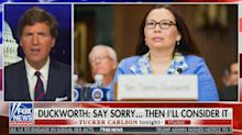 Tucker Carlson continues attack on 'moron' and 'coward' Sen. Tammy Duckworth