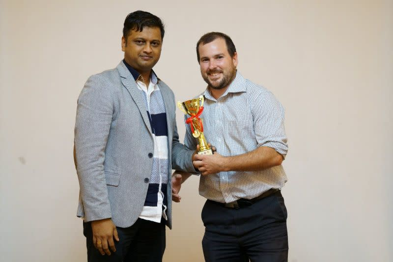 Most Valuable Player of the Tournament, Brendan Crook of New Zealand (Image Courtesy: Singapore Cricket Association)