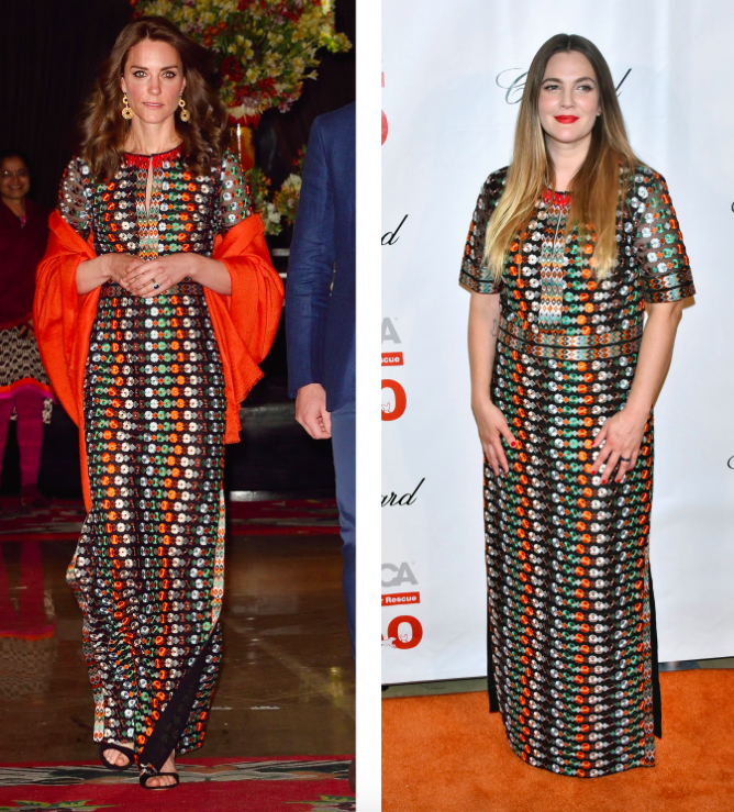 Who Wore It Best? Duchess Of Cambridge And Drew Barrymore ...