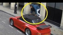 Thief Slicing Vintage Porsche's Soft Top Caught In The Act