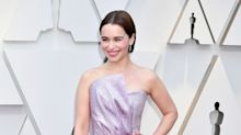 Emilia Clarke Wears Sculptural Balmain Gown to the 2019 Oscars