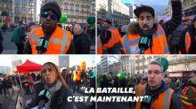 """Les grévistes de la première heure réclament du """"renfort"""" aux autres professions"""