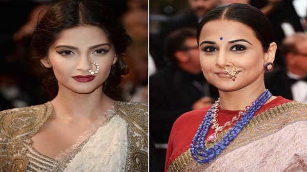 Sonam Vs Vidya's nose ring at Cannes