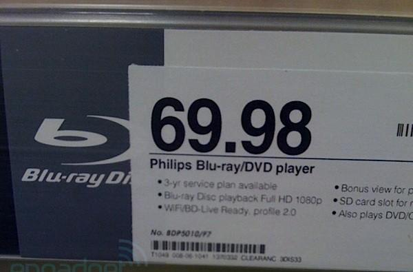 Philips BDP5010 Blu-ray / Divx player drops below $70 at Target