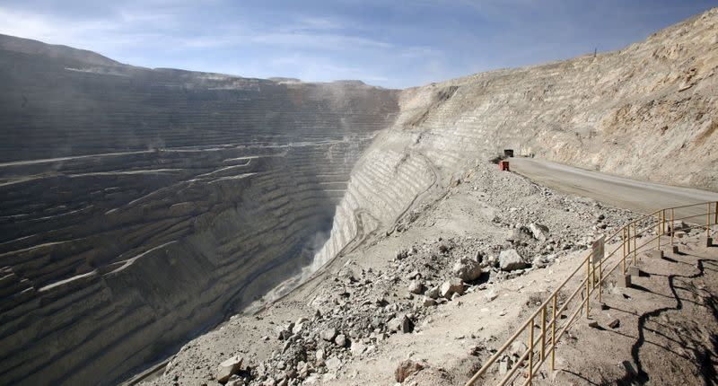FILE PHOTO: General view shows Chile's Chuquicamata copper mine, which is owned by Chile's state-run copper producer Codelco, near Calama city, Chile