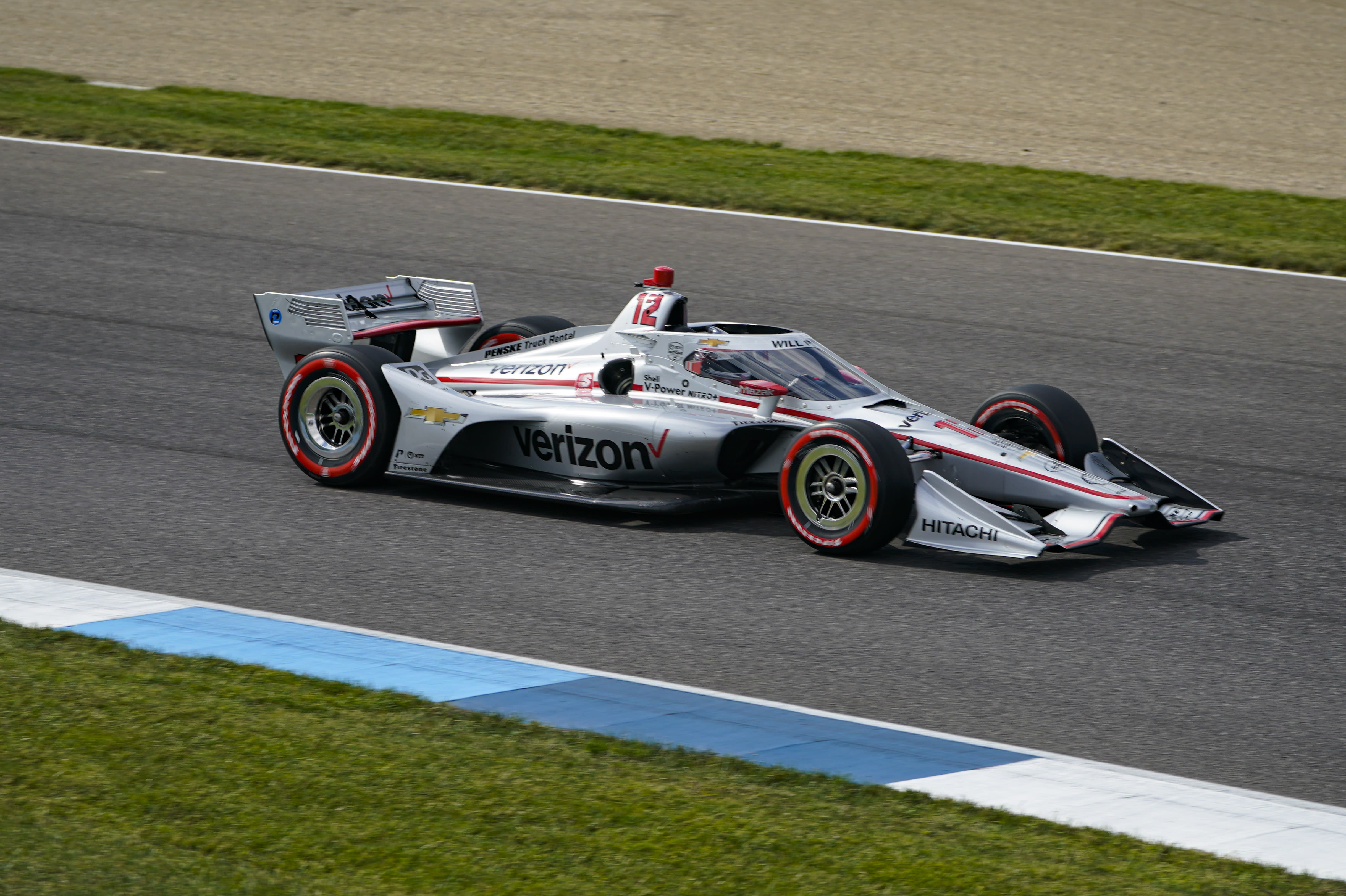 Will Power, of Australia, drives through a turn during an IndyCar auto race at Indianapolis Motor Speedway in Indianapolis, Saturday, Oct. 3, 2020. (AP Photo/Michael Conroy)