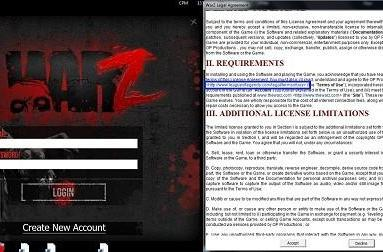 The War Z terms of use has link to League of Legends agreement