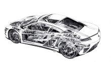 2019 Acura NSX inner workings revealed in Shin Yoshikawa cutaway drawing