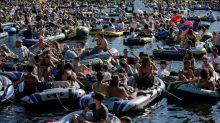 Landwehrkanal: Entsetzen über Techno-Party mit 400 Booten