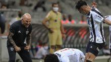 Sampaoli fala da tranquilidade do Galo em manter o estilo de jogo e da reação rápida após levar o gol