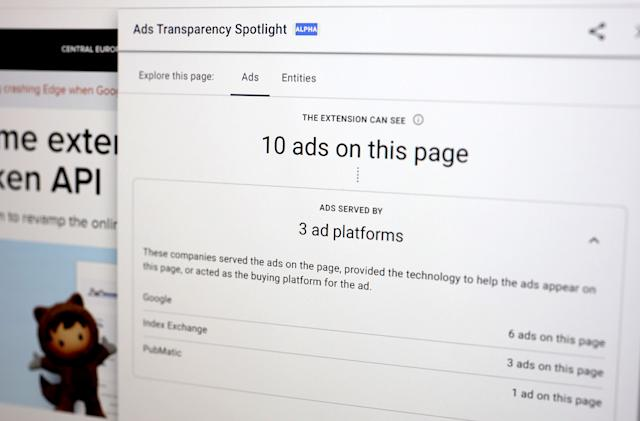 Google's latest Chrome extension shows detailed ad-tracking data