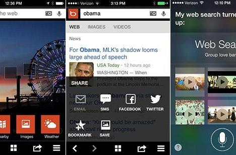 Bing updates iOS app with new shortcuts and redesigned menu