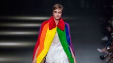 Cara Delevingne closes Burberry's LGBTQ-inspired show in a rainbow cape