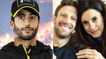 Daniel Ricciardo vindicated by message from Romain Grosjean's wife