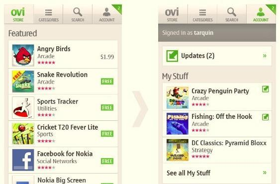 Ovi Store follows the pack with integrated app updates, charms us with refined algorithms