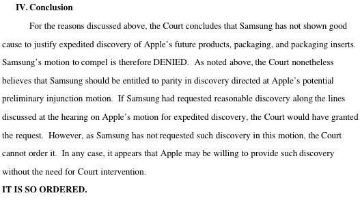 Samsung denied preview of iPad 3, iPhone 5 in ongoing Apple infringement suit
