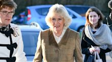 Camilla appears to pause before confirming she'll miss Harry and Meghan
