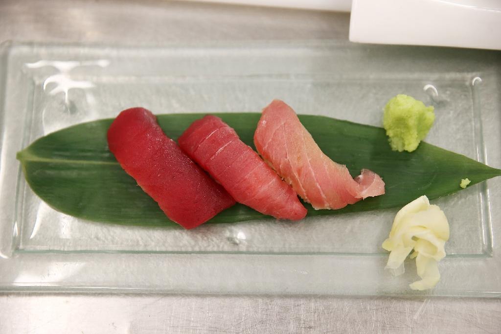 Less iconic than Atlantic bluefin but more valuable as an industry, bigeye (Thunnus obesus) -- one of several so-called tropical tunas -- is prized for sashimi in Japan and canned for supermarket sales worldwide (AFP Photo/Neilson Barnard)