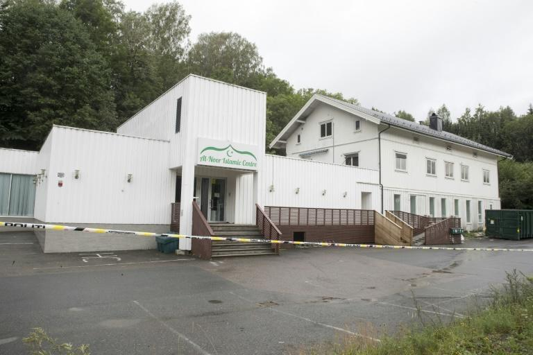 The suspect entered the mosque in the affluent Oslo suburb of Baerum armed with at least two weapons and opened fire