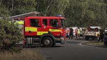 Chobham wildfire: Fire crews remain at scene of blaze