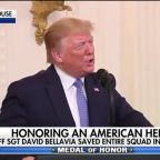 President Trump presents Staff Sgt. David Bellavia with the Medal of Honor