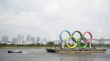 """Olympic rings in Tokyo Bay removed for """"maintenance"""""""