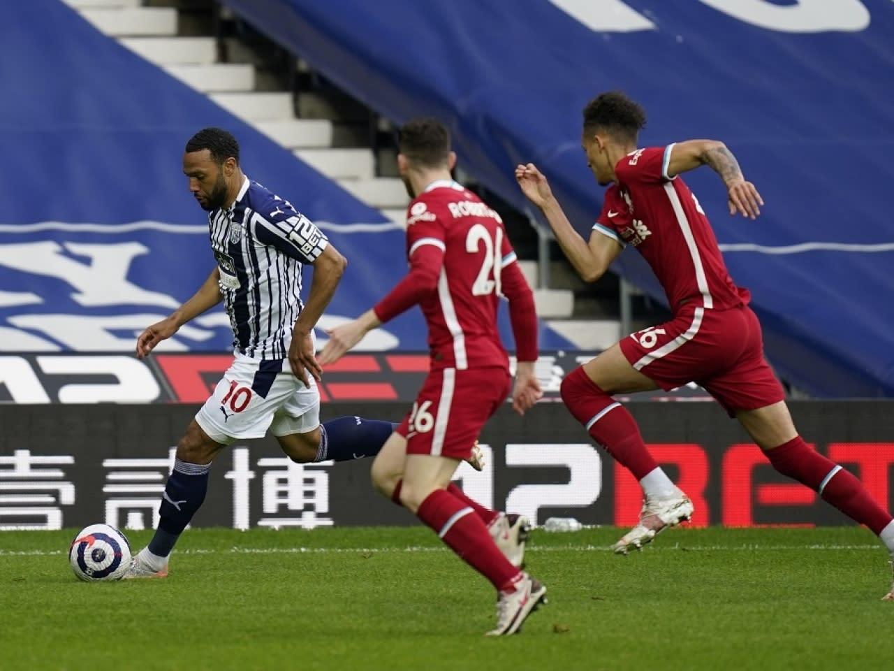 英超利物浦2:1擊敗西布朗