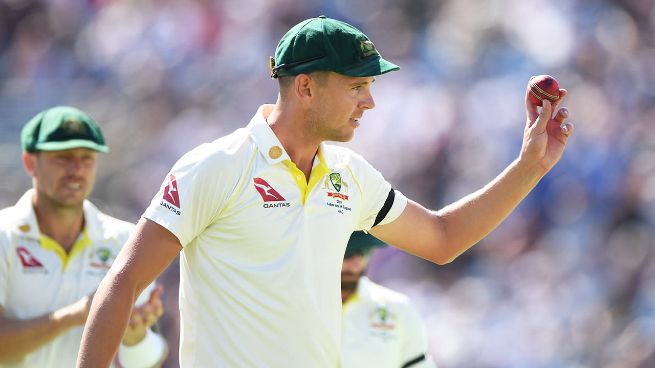 Josh Hazlewood labels England 'vulnerable' after wickets tumble