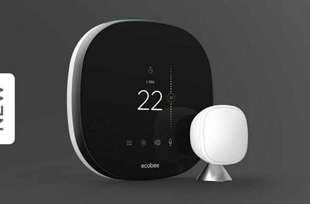 Ecobee smart thermostat with glass display pops up on Lowe's website