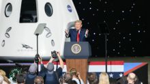 After seeing milestone launch, President Trump hails space effort as a force for 'pride and unity'