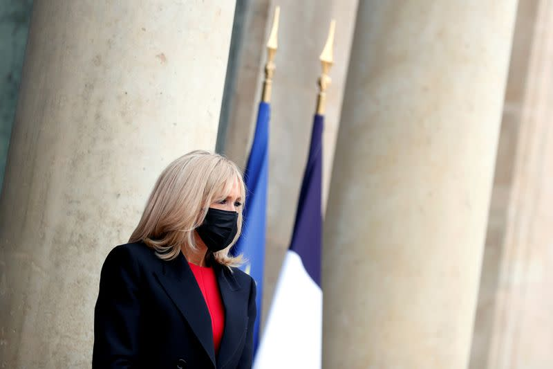 French first lady to self-isolate after contact with COVID-19 patient: office