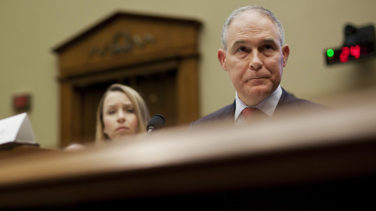 Lawmakers grill EPA chief over ethics scandals