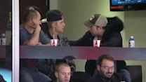 Justin Bieber at Hurricanes-Maple Leafs game