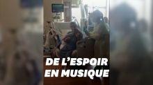 Cet Américain atteint du Covid-19 joue du violon depuis son lit d'hôpital