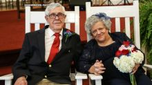 North Carolina couple has 'rocking chair wedding' after 70 years apart