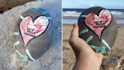 Woman's 'beautiful' find on beach while grieving friend