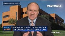 Small business wages up a 'nice and stable' nearly 3% this month, says Paychex CEO