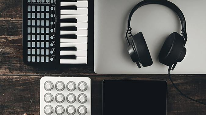 Headphones and music making gear
