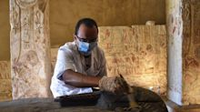 Archaeologists unearthed 160 sarcophagi from an ancient Egyptian necropolis. Some of the tombs were inscribed with mummy curses.
