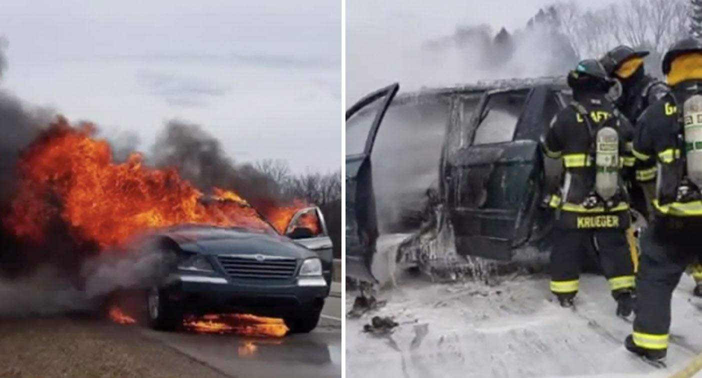 Woman's car bursts into flames '22 minutes after buying it from dealership'