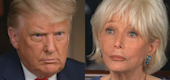 President Trump and Lesley Stahl (CBS)