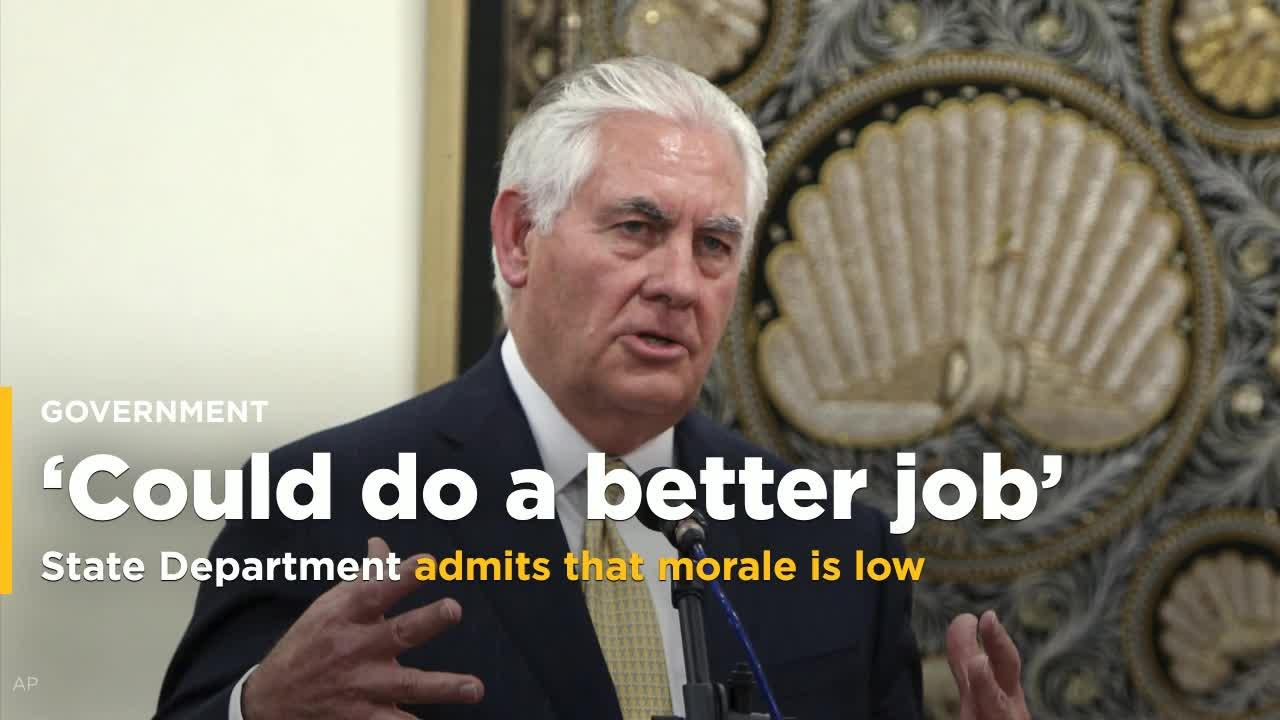 State Department defends reorganization, admits low morale ...
