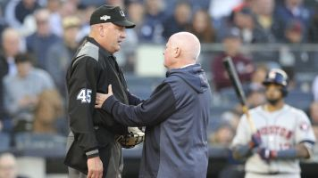 ALCS Game 3 delayed after ump suffers concussion
